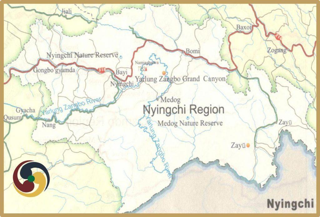 Kongpo Tourism Map