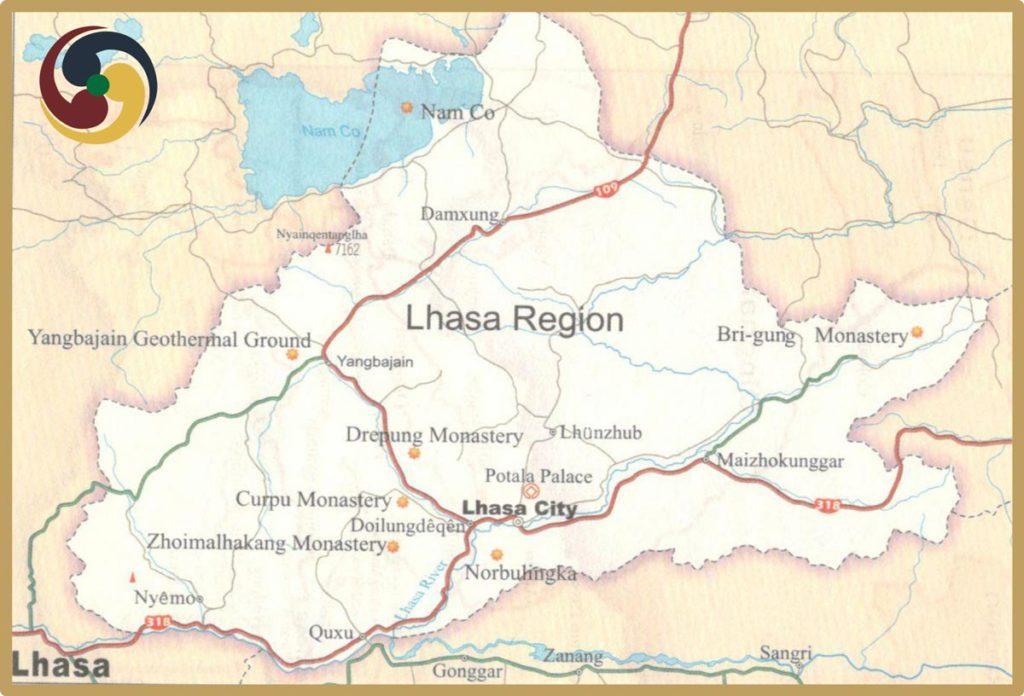 Lhasa Tourism Map