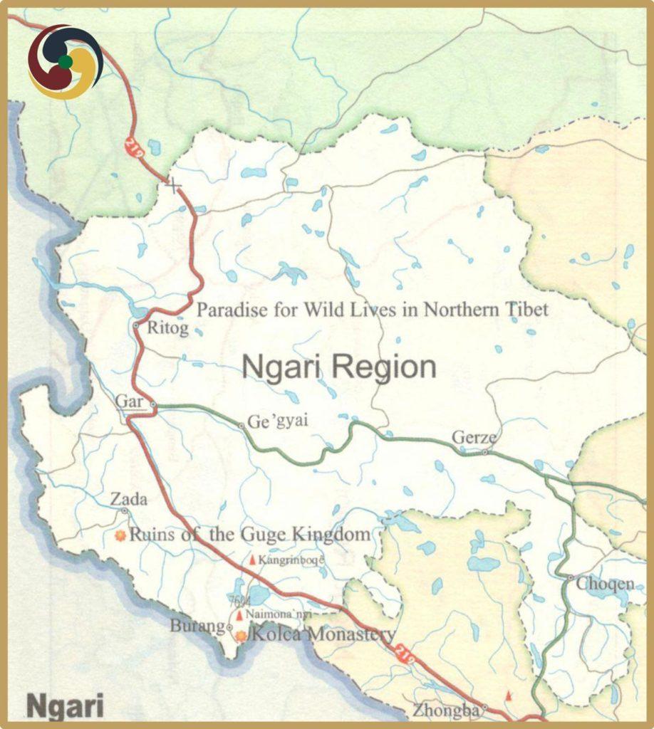 Ngari Tourism map