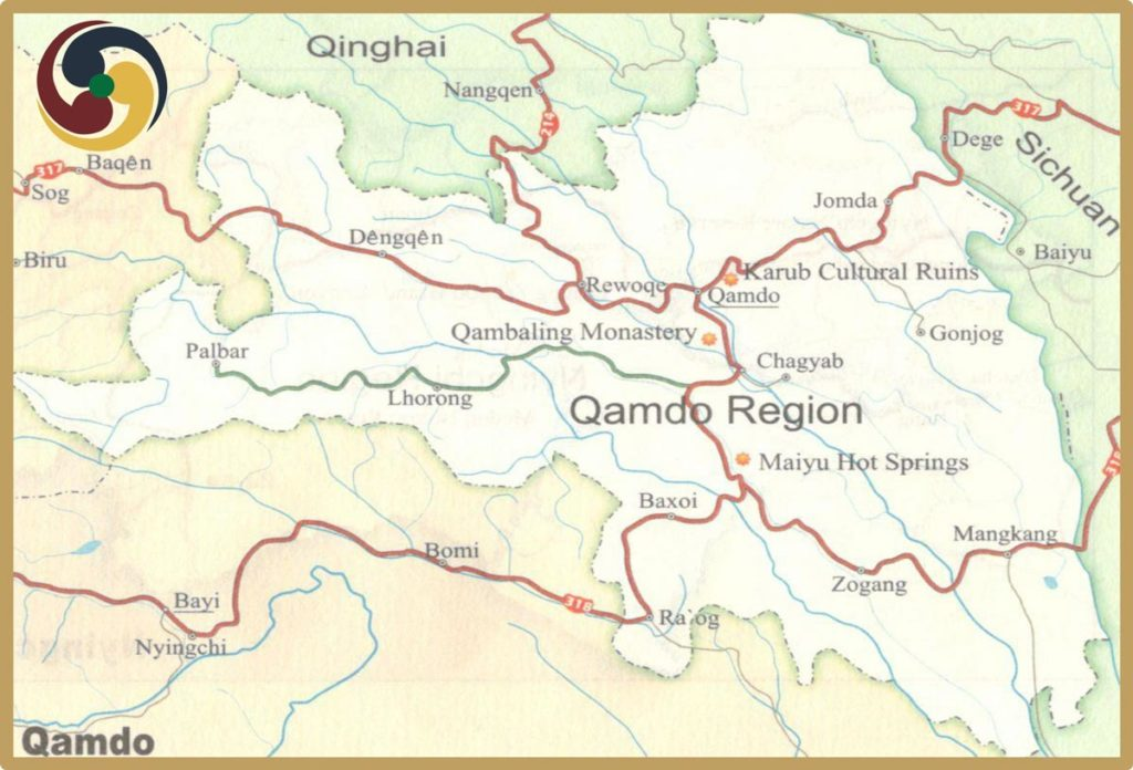 Qamdo Tourism map