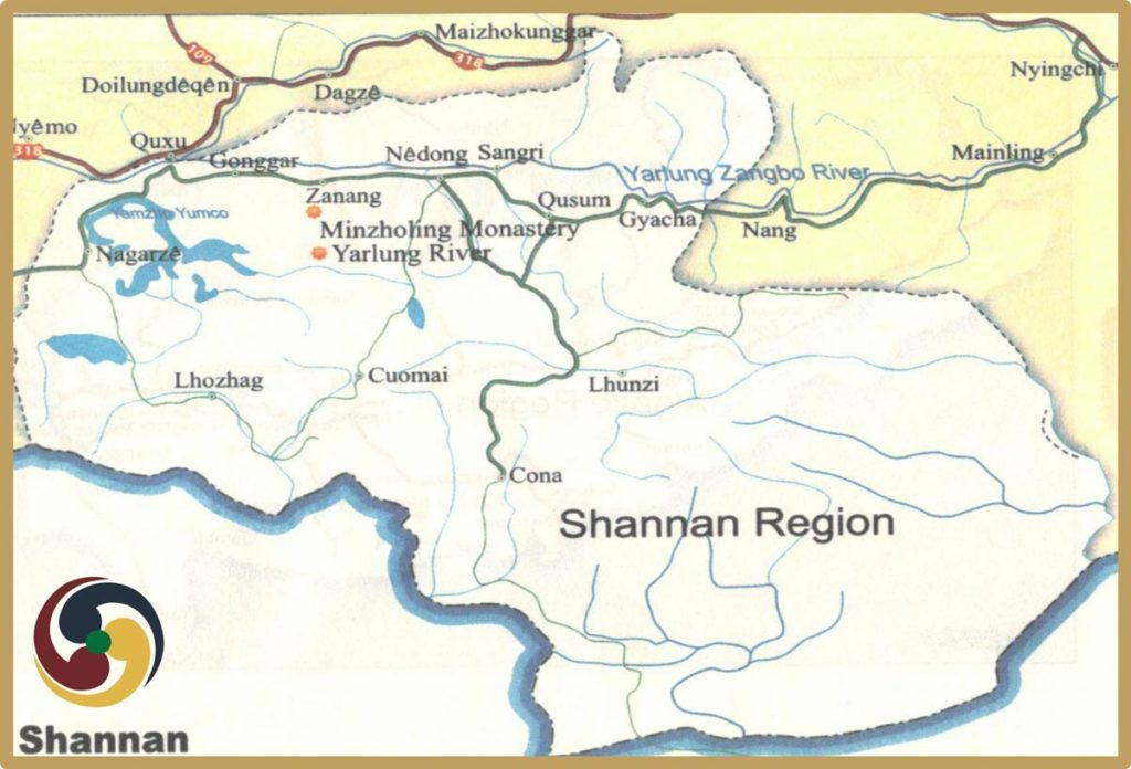 lhoka tourism map