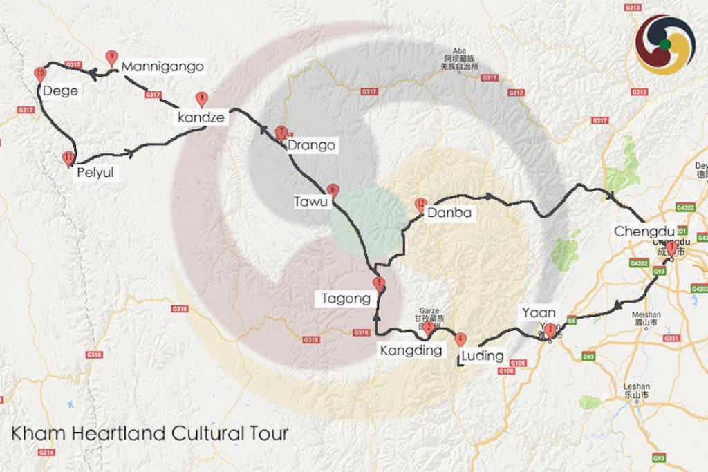 Kham Heartland Cultural Tour Map