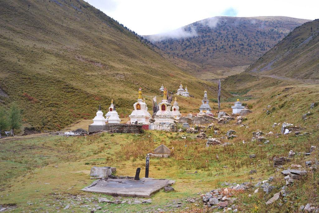 Tibetan Sky Burial or Celestial Burials Site