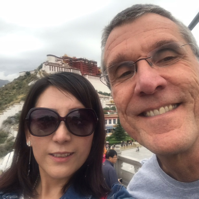 Jeffrey in front of Potala Palace